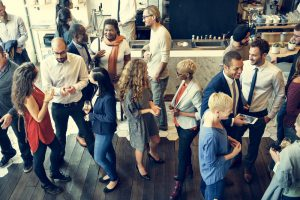 networking event at coworking space